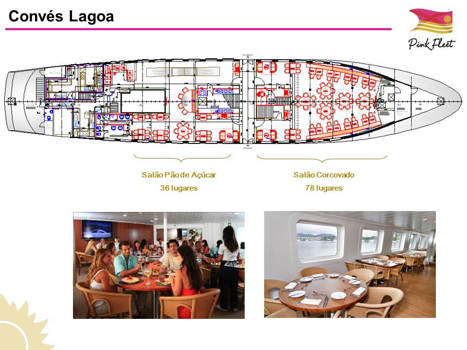 Área Externa 76 lugares Espaços Salão Maracanã 101 lugares Convés Copacabana