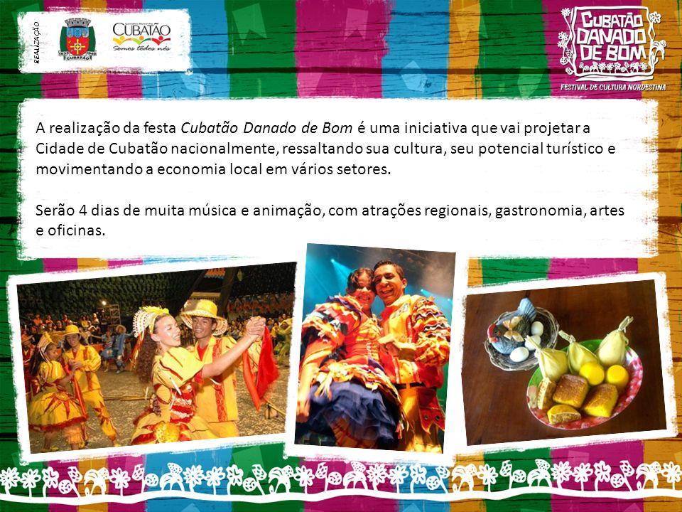 A realização da festa Cubatão Danado de Bom é uma iniciativa que vai projetar a Cidade de Cubatão nacionalmente, ressaltando sua cultura, seu potencial turístico e movimentando a economia local em vários setores.