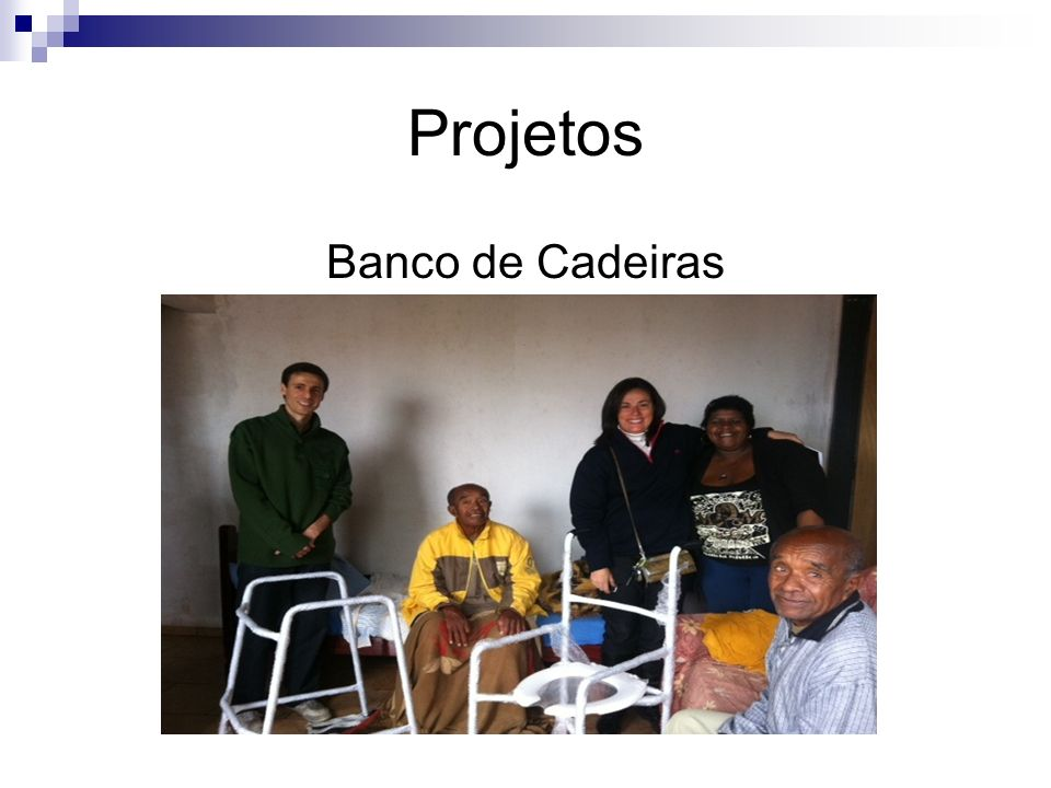 Projetos Banco de Cadeiras