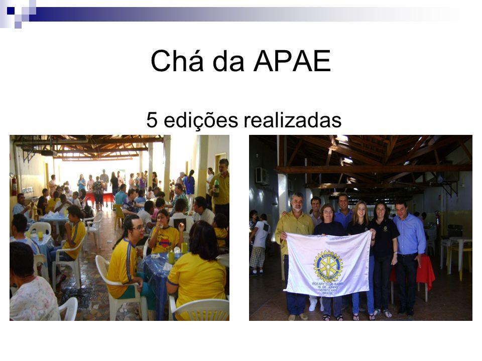 Chá da APAE 5 edições realizadas