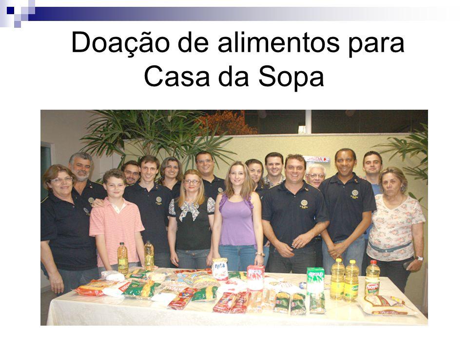 Doação de alimentos para Casa da Sopa