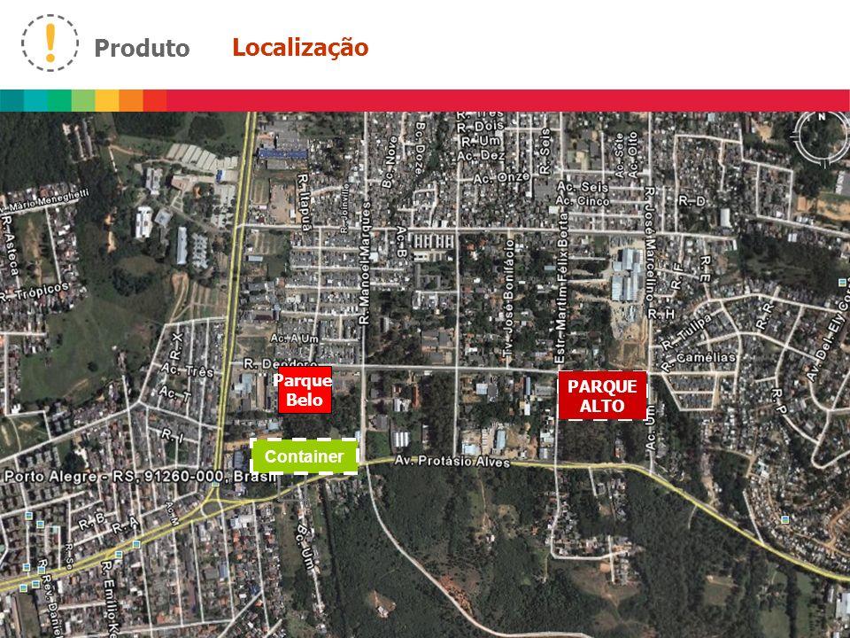 Produto - Implantações 3 1 5 3 4 2 1 2 3 4 5 Piscinas adulto e infantil Quadra esportiva Parquinho Churrasqueiras Salão de Festas Av.