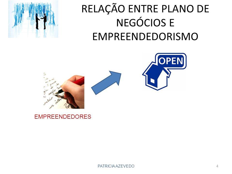 RELAÇÃO ENTRE PLANO DE NEGÓCIOS E EMPREENDEDORISMO PATRICIA AZEVEDO EMPREENDEDORES 4