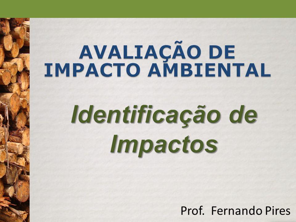 Ação Não cumulativo CumulativoFrequênciaSazonalCasualCíclicoConstante Aula 5 – Identificação de Impactos Características dos Impactos Métodos