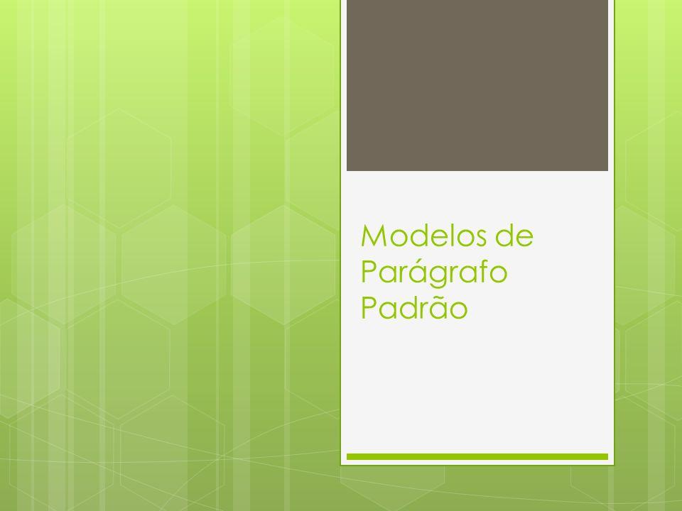 Modelos de Parágrafo Padrão