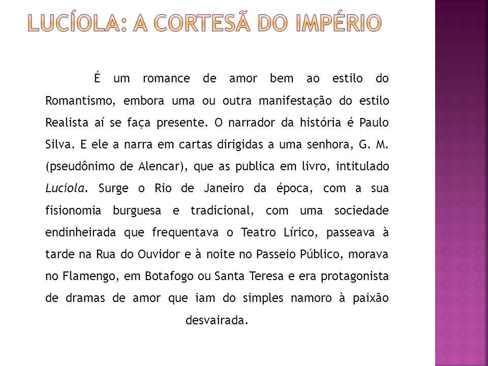 No dia mesmo de sua chegada à corte (Rio de Janeiro), após o jantar, sai em companhia de um amigo para conhecer a cidade.