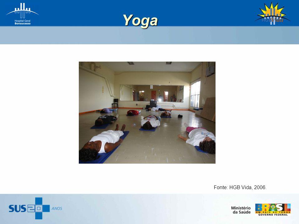 Yoga Fonte: HGB Vida, 2006.
