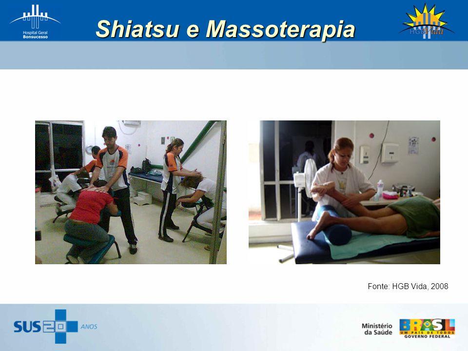 Shiatsu e Massoterapia Fonte: HGB Vida, 2008