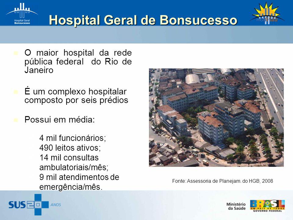 Hospital Geral de Bonsucesso Hospital Geral de Bonsucesso O maior hospital da rede pública federal do Rio de Janeiro É um complexo hospitalar composto
