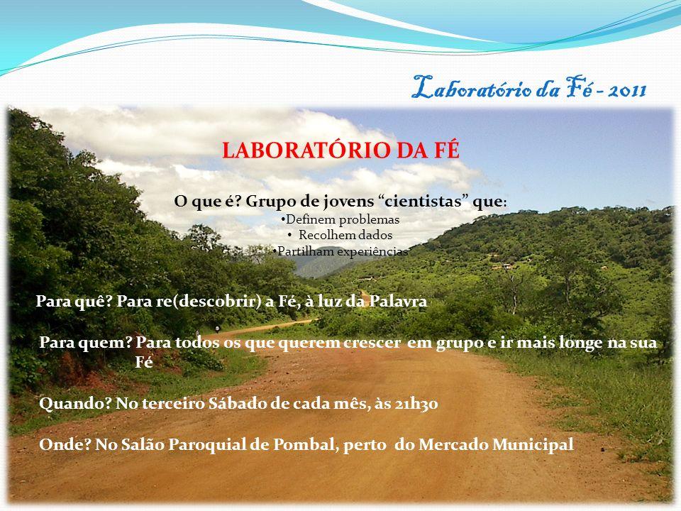 Laboratório da Fé - 2011 15 LABORATÓRIO DA FÉ O que é.