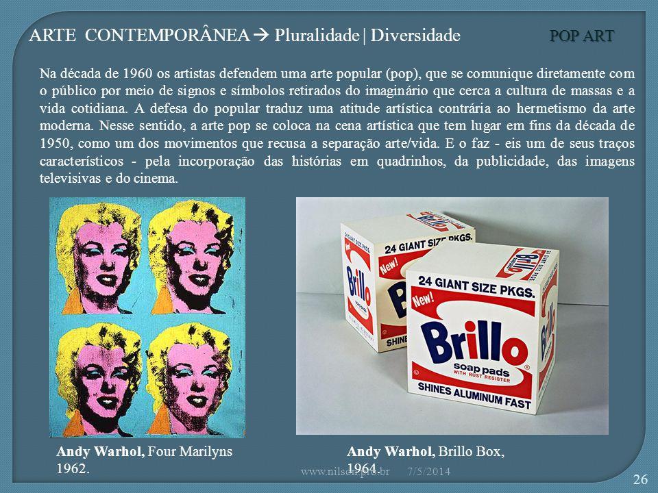 POP ART Andy Warhol, Four Marilyns 1962.