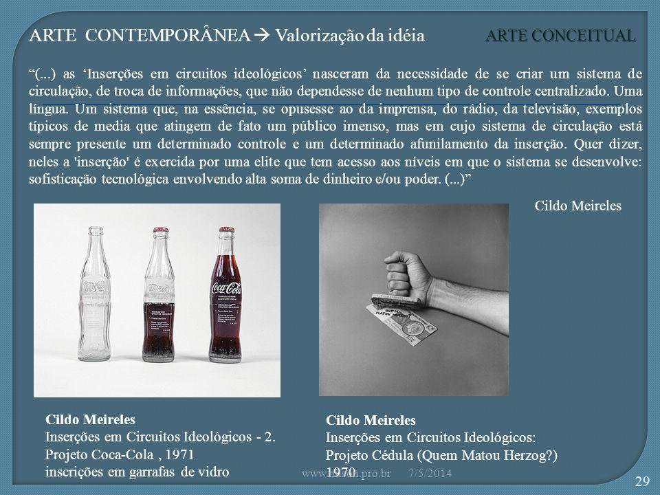 Cildo Meireles Inserções em Circuitos Ideológicos - 2.