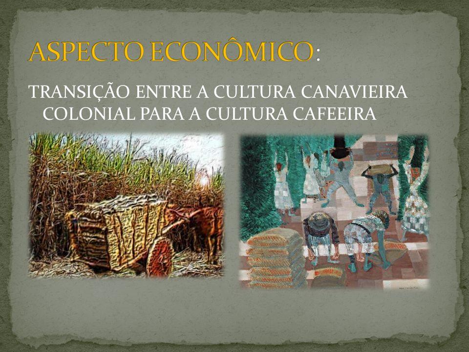TRANSIÇÃO ENTRE A CULTURA CANAVIEIRA COLONIAL PARA A CULTURA CAFEEIRA