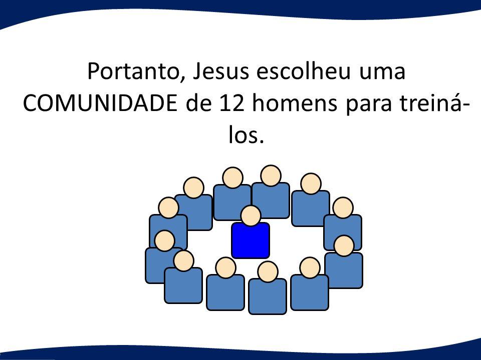 Portanto, Jesus escolheu uma COMUNIDADE de 12 homens para treiná- los.