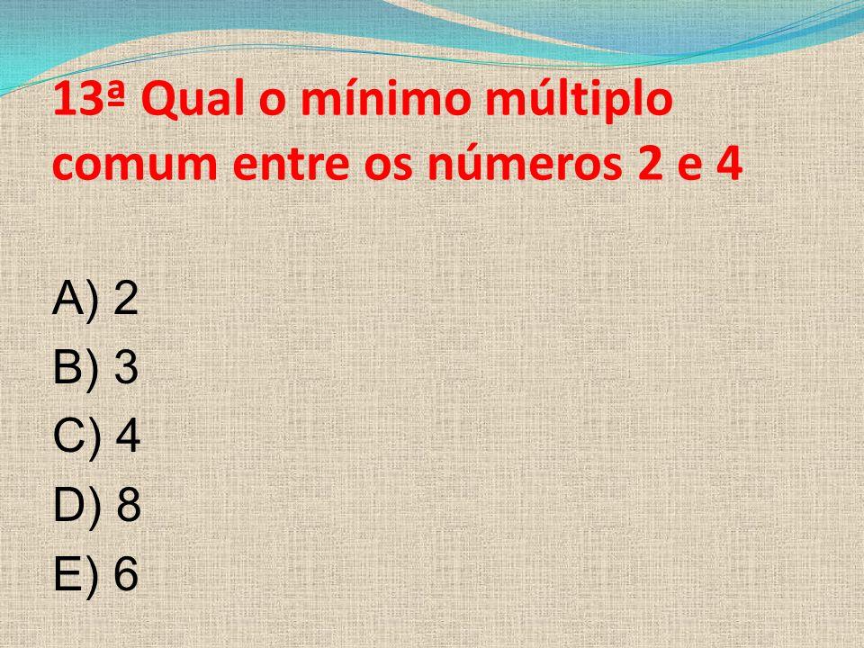 12ª Qual a definição para vértice em uma figura plana? A)O ponto de encontro dos setores administrativos das arestas planas. B)O ponto de encontros do
