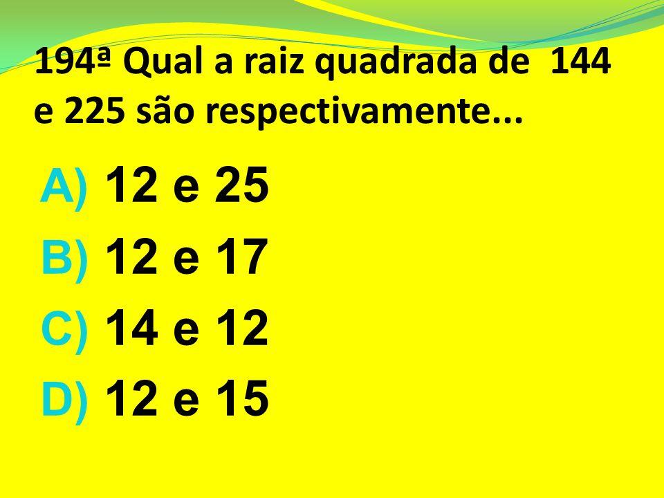 193ª O símbolo significa: A)Uma letra comum do Alfabeto B)Raiz quadrada C)Raiz Cúbica D) A letra V na linguagem romana