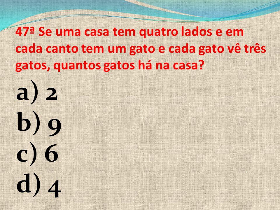 46ª Se x=5, na em uma equação de primeiro grau X + y = 2, qual o valor de Y=? A) 2 B) 3 C) -3 D)-1 E) -7
