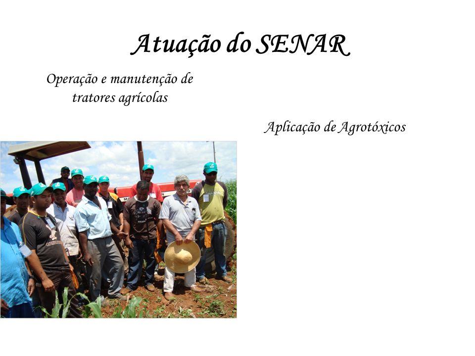 Atuação do SENAR Operação e manutenção de tratores agrícolas Aplicação de Agrotóxicos