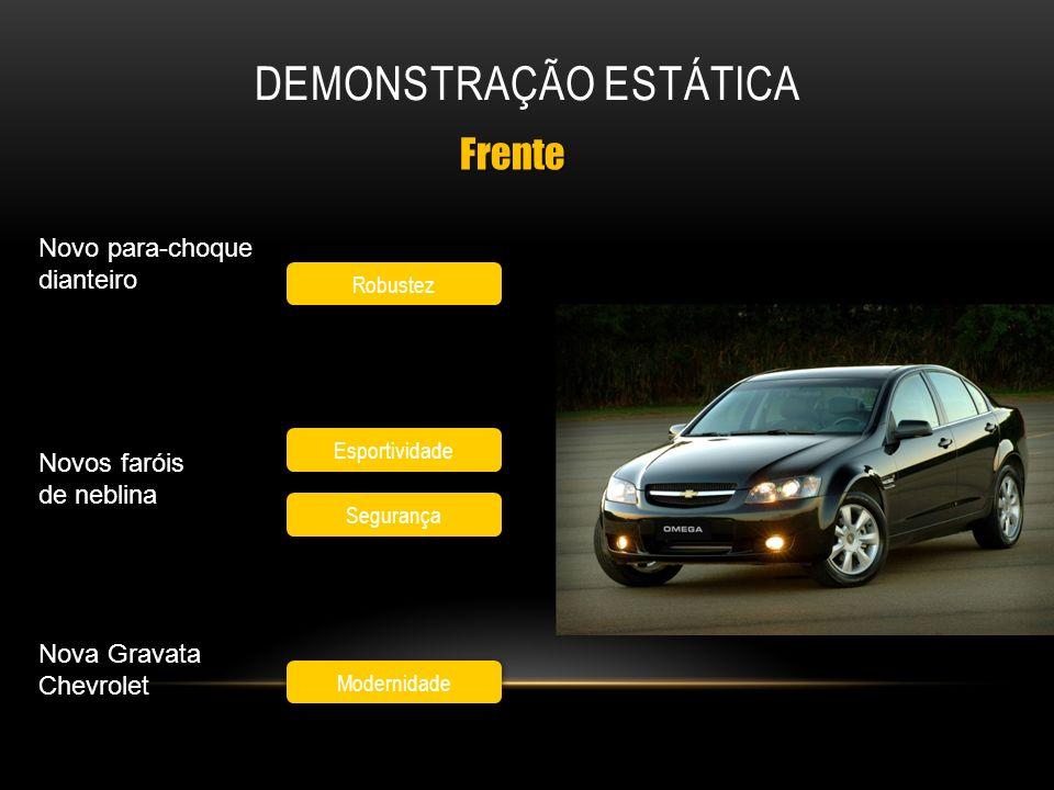 Robustez Modernidade Frente Novo para-choque dianteiro Novos faróis de neblina Nova Gravata Chevrolet Esportividade Segurança
