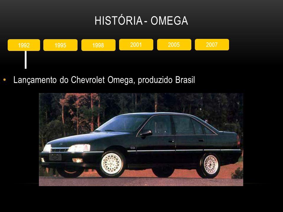 HISTÓRIA - OMEGA Lançamento do Chevrolet Omega, produzido Brasil 1998 1995 1992 2005 2001 2007