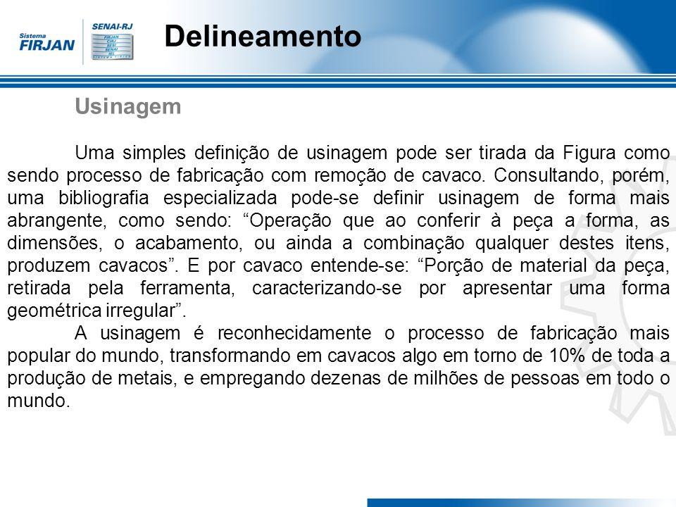 Delineamento 1.1 – Classificação e nomenclatura de processos comven- cionais de usinagem.