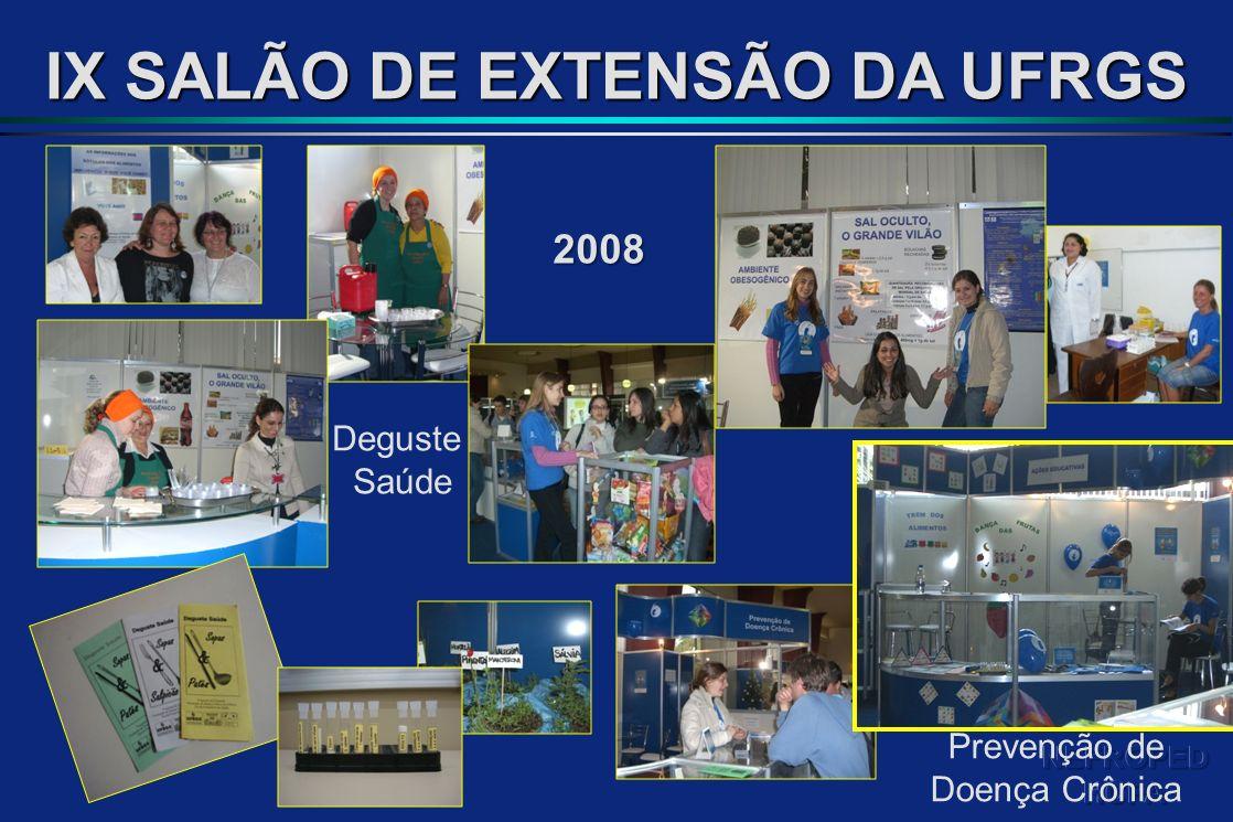 IX SALÃO DE EXTENSÃO DA UFRGS Deguste Saúde 2008 Prevenção de Doença Crônica