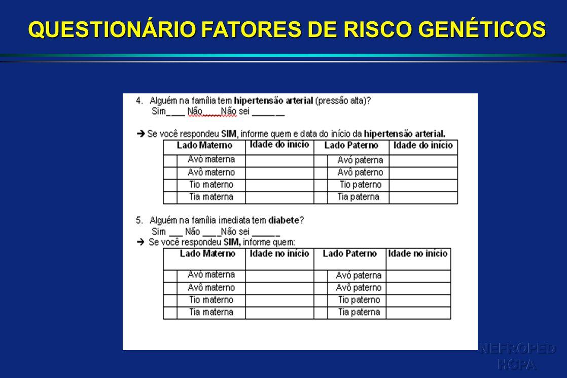 QUESTIONÁRIO FATORES DE RISCO GENÉTICOS