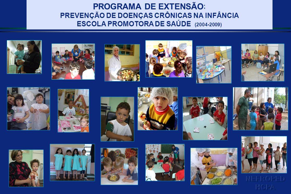PROGRAMA DE EXTENSÃO : PREVENÇÃO DE DOENÇAS CRÔNICAS NA INFÂNCIA ESCOLA PROMOTORA DE SAÚDE (2004-2009)