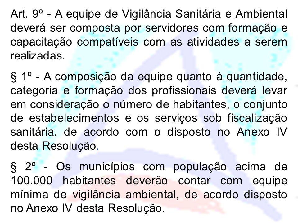 Faixa PopulacionalNível SuperiorNível médio < 20.00012 20.000 a 50.00024 50.000 a 100.00036 Os municípios com população superior a 100.000 habitantes deverão ter mais 1 técnico de nível superior, a cada 50.000.