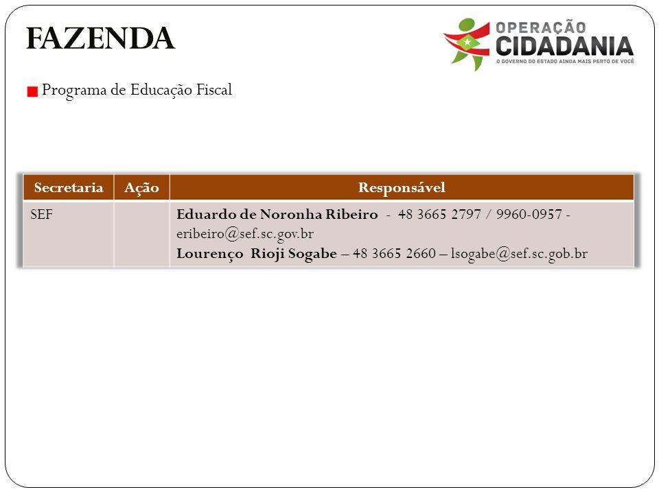 FAZENDA Programa de Educação Fiscal