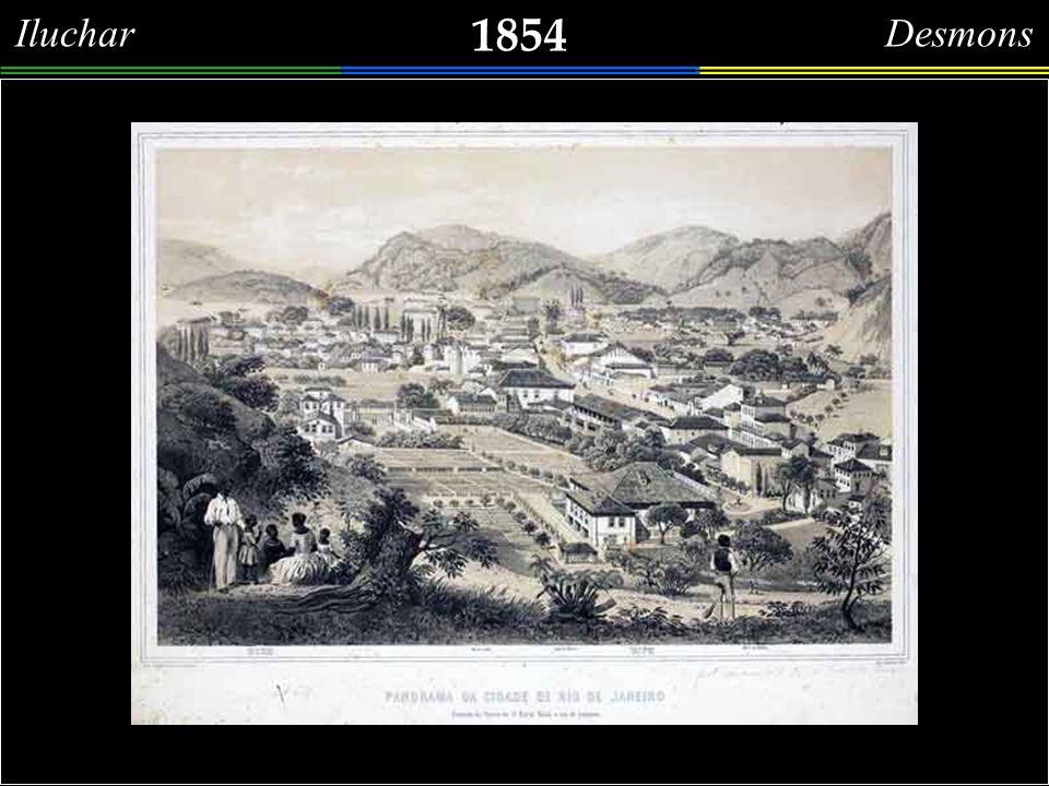 1854 Iluchar Desmons Chácara do Barão de Mauá, Irineu Evangelista de Souza, números 99, 99-A e 99- B da Rua do Catete, desenhada no mesmo ano em que recebera o seu título nobiliárquico (30.04.1854).