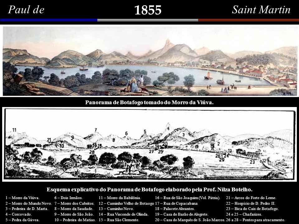 Paul de Saint Martin 1855 Panorama de Botafogo tomado do Morro da Viúva.