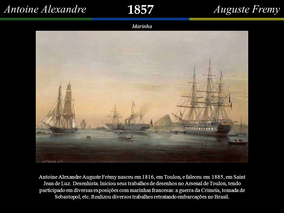Antoine Alexandre Auguste Fremy 1857 Marinha Grafite sobre papel especial, assinado At.