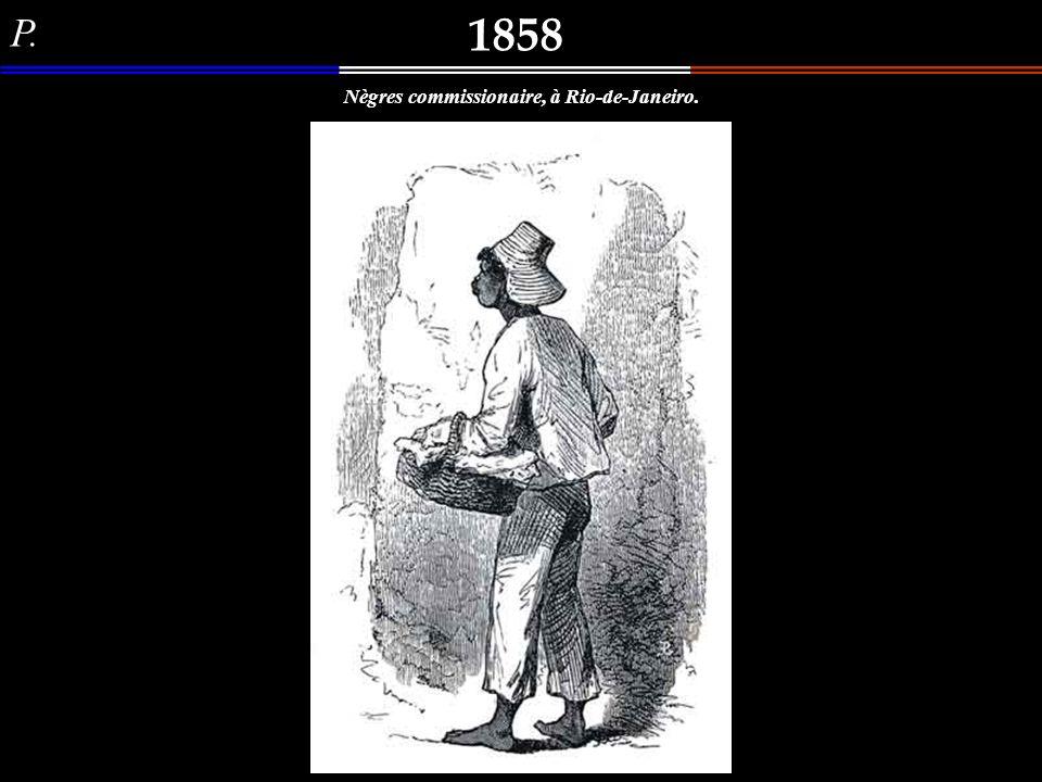 Lanier (?) 1858 Nègres gandins, à Rio-de-Janeiro. Outro interessante desenho de três negros conversando em algum lugar da Cidade do Rio de Janeiro, de