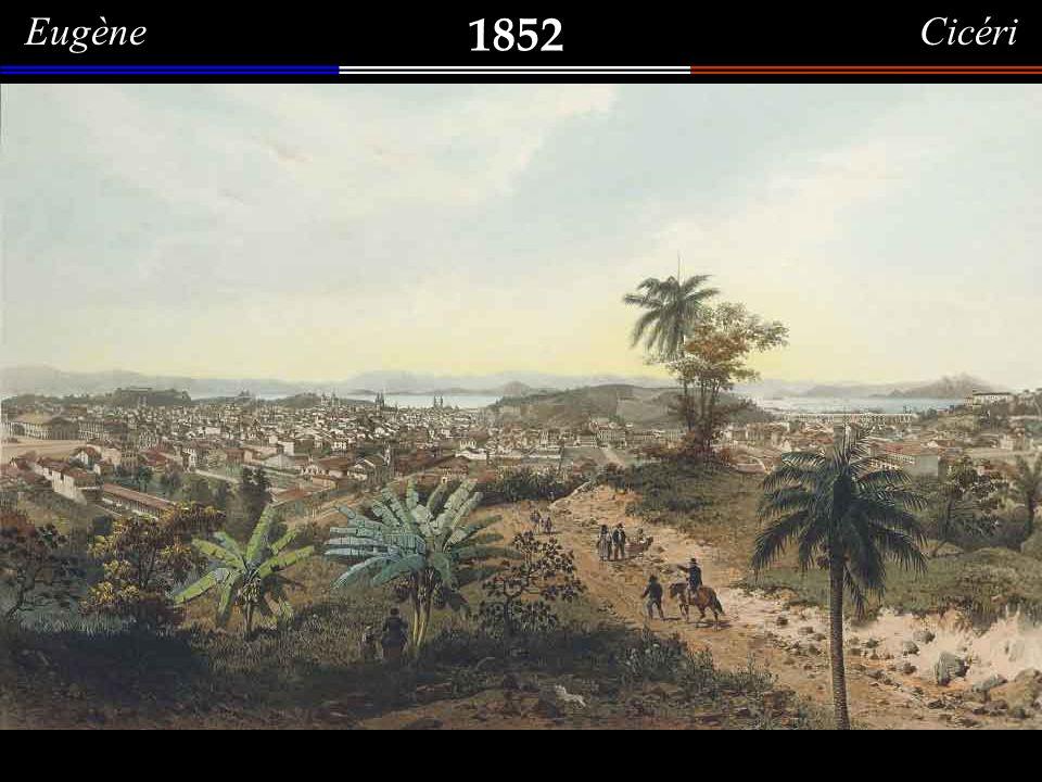 1852 Eugène Cicéri A Cidade do Rio de Janeiro vista do Morro do Senado.