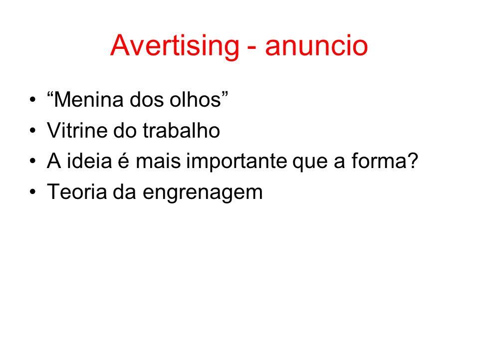 Avertising - anuncio Menina dos olhos Vitrine do trabalho A ideia é mais importante que a forma.