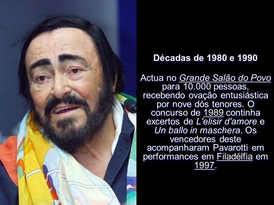 Décadas de 1980 e 1990 O segundo concurso em 1986 repete La bohème e Un ballo in maschera. Para comemorar o 25º aniversário de carreira leva os venced