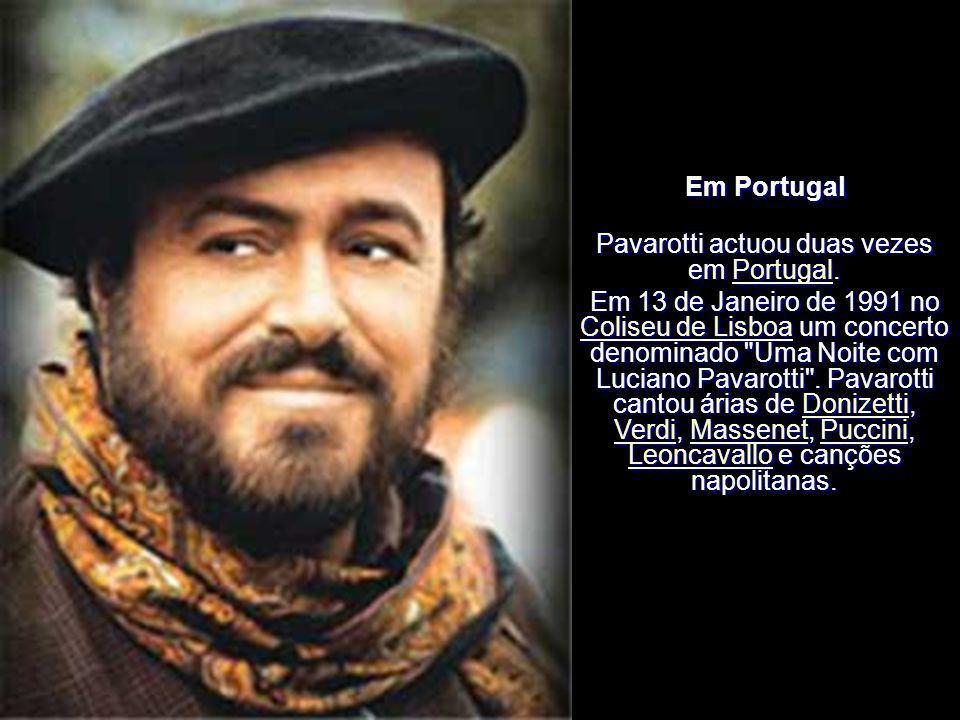 Anos 2000 Pavarotti actuou pela última vez na New York Metropolitan Opera em 13 de Março de 2004 recebendo uma ovação de 11 minutos pelo papel do pint