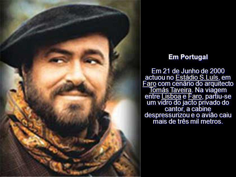 Em Portugal Pavarotti actuou duas vezes em Portugal. Portugal Em 13 de Janeiro de 1991 no Coliseu de Lisboa um concerto denominado