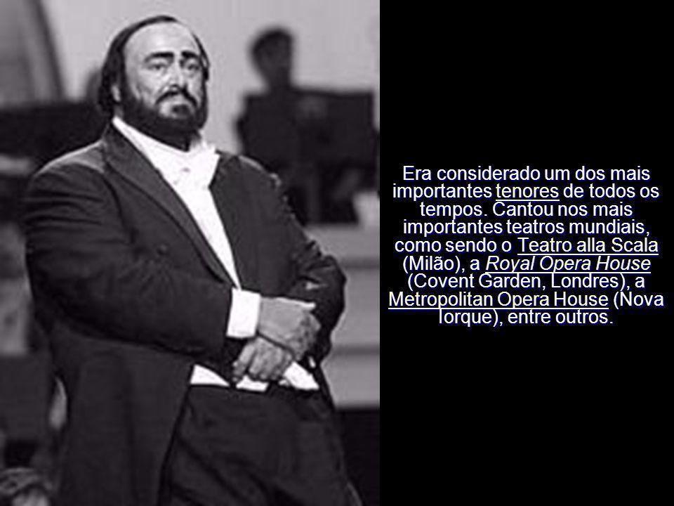 Pavarotti participou com os tenores espanhóis José Carreras e Plácido Domingo nos concertos