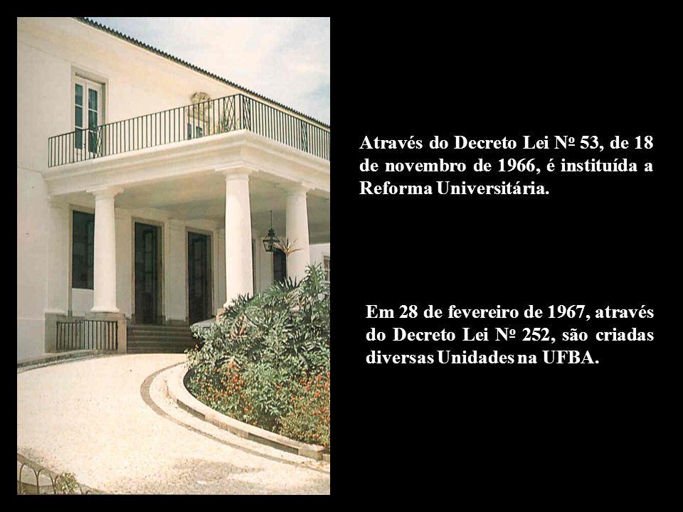 Através do Decreto Lei N o 53, de 18 de novembro de 1966, é instituída a Reforma Universitária. Em 28 de fevereiro de 1967, através do Decreto Lei N o