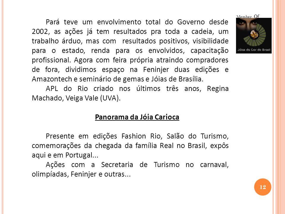 12 Member Of Pará teve um envolvimento total do Governo desde 2002, as ações já tem resultados pra toda a cadeia, um trabalho árduo, mas com resultado