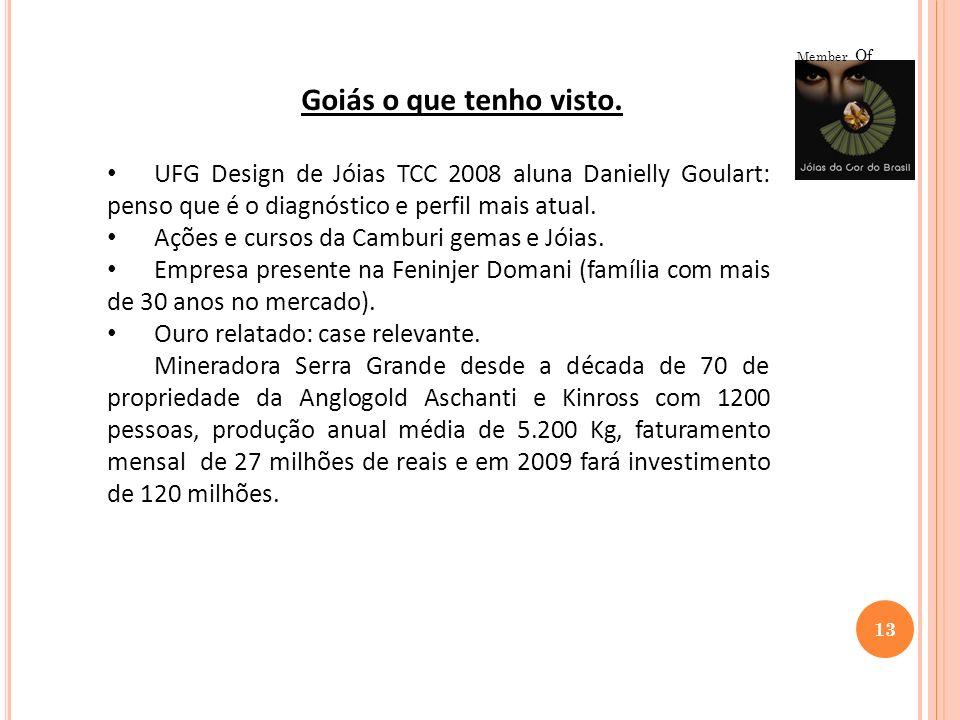 13 Member Of Goiás o que tenho visto. UFG Design de Jóias TCC 2008 aluna Danielly Goulart: penso que é o diagnóstico e perfil mais atual. Ações e curs