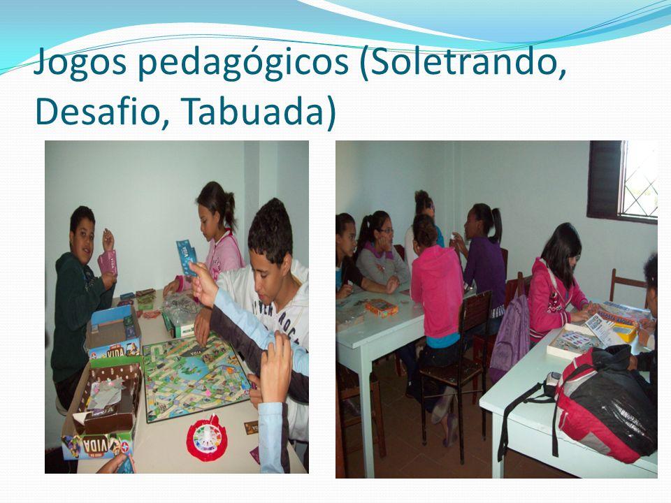 Jogos pedagógicos (Soletrando, Desafio, Tabuada)