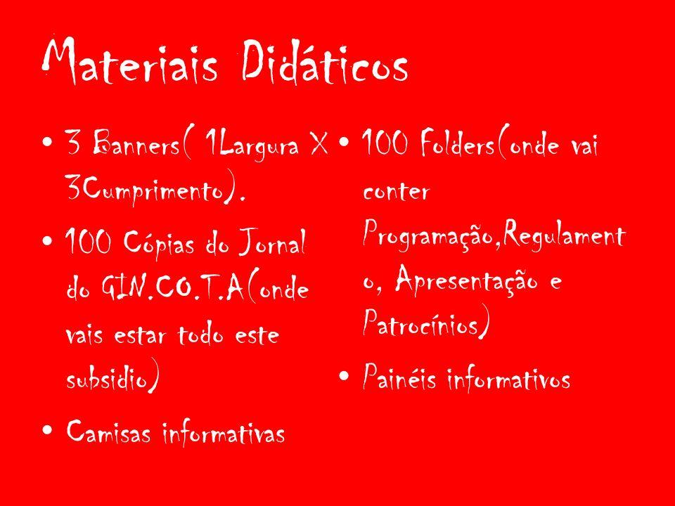 Materiais Didáticos 3 Banners( 1Largura X 3Cumprimento).