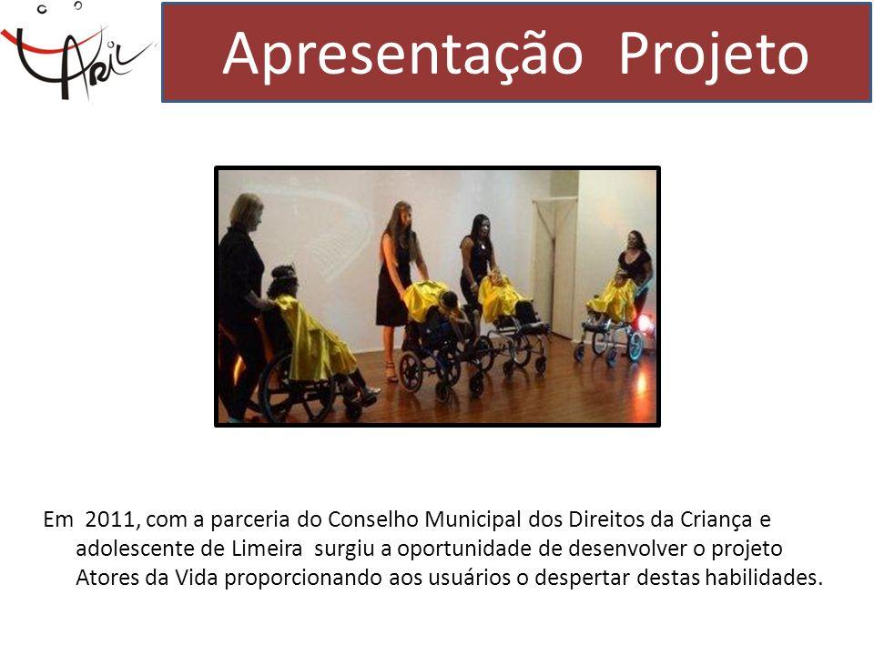 Em 2011, com a parceria do Conselho Municipal dos Direitos da Criança e adolescente de Limeira surgiu a oportunidade de desenvolver o projeto Atores d