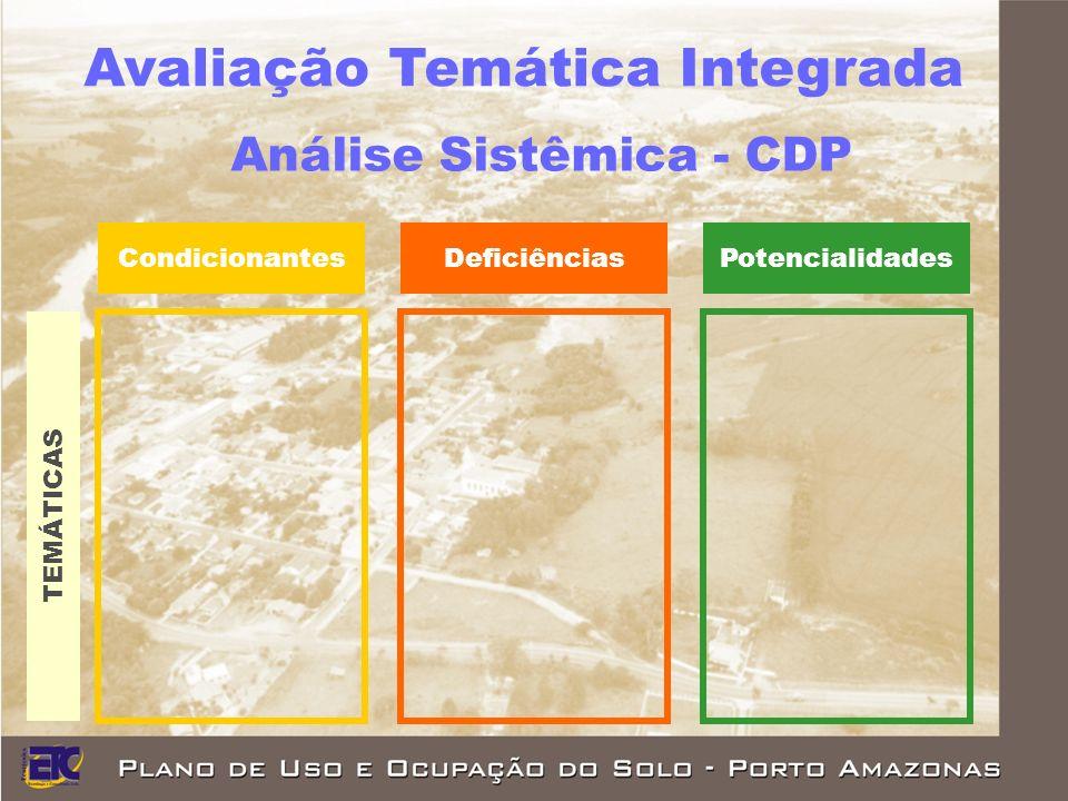 DeficiênciasPotencialidadesCondicionantes TEMÁTICAS Análise Sistêmica - CDP