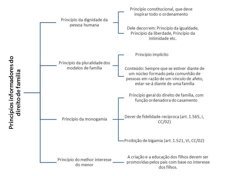 Princípios informadores do direito de família Princípio da dignidade da pessoa humana Princípio constitucional, que deve inspirar todo o ordenamento D