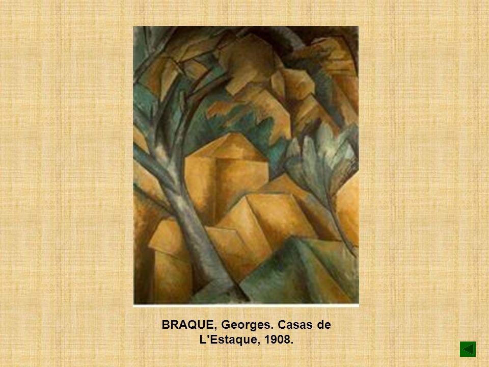 BRAQUE, Georges. Casas de L'Estaque, 1908.