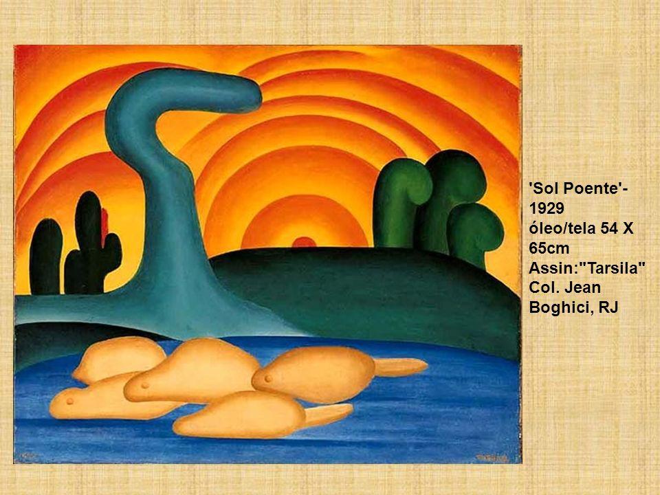 Sol Poente - 1929 óleo/tela 54 X 65cm Assin: Tarsila Col. Jean Boghici, RJ